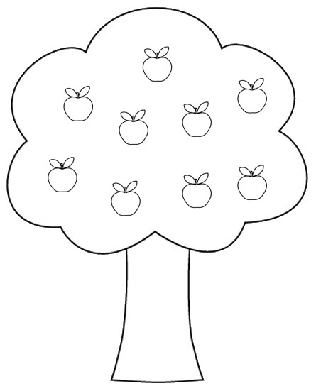 apple tree clipart to color, 14 cm | This clipart drawing ...