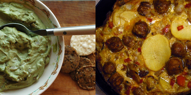 green olive dip and chorizo tortilla | the two of these ...
