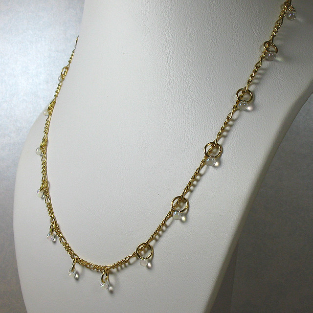 Gold Diamond Wrap Choker