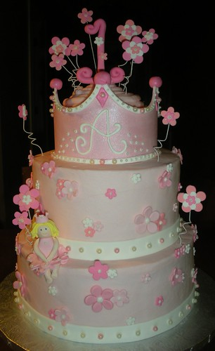 Tiered Princess Cake All Decorations Are Fondant