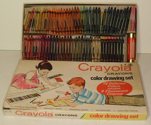 1960s Crayola Crayons Vintage Color Drawing Set Graphics A