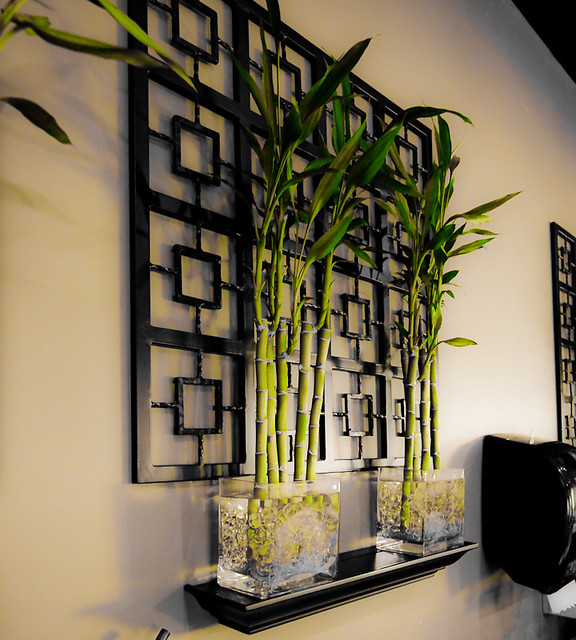 Bamboo Plants Rice Bistro Sushi Restaurant In