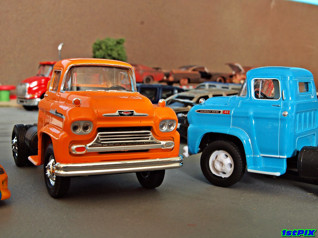 New Chevy Trucks >> 1958 Chevy LCF Truck: M2 Machines Diecast | A pair of classi… | Flickr