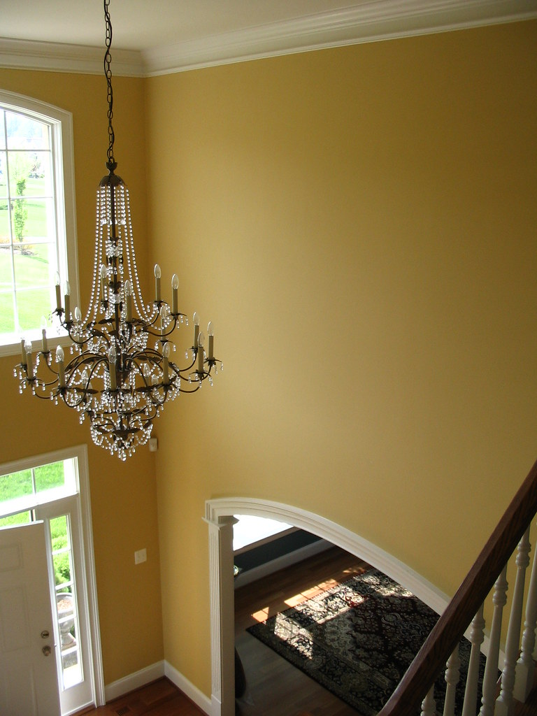 Two Story Foyer Molding : Story foyer with crown molding in west