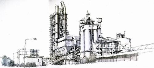 Cement City Michigan Cement Plant : La araña cement plant this impressive huge structure