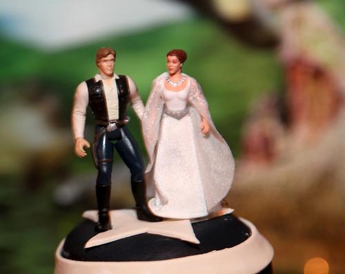 Han Solo Princess Leia Wedding Cake Topper