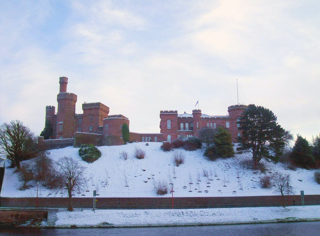 Inverness Castle Scotland After A Week Of Snow