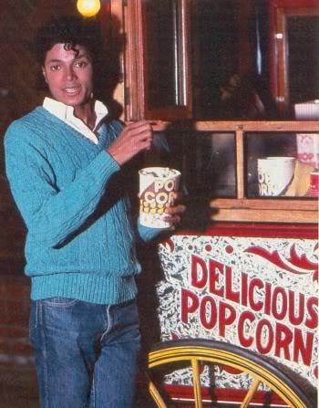 Michael jackson eating popcorn for Maker jackson
