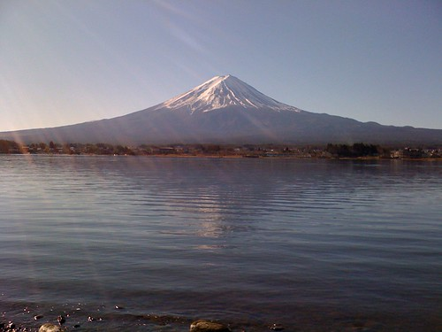 河口湖と富士山2