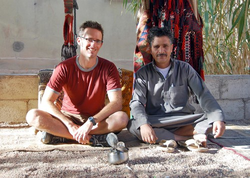 jeremy with eid, our wadi rum bedouin guide | by hopemeng