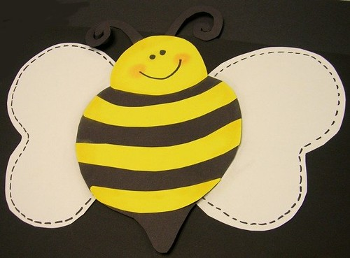 """These Photos Are Part Of A Gallery: This Hand Cut Paper-pieced Bee Is Part Of My """"These"""