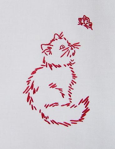 Free Cat Hand Embroidery Patterns