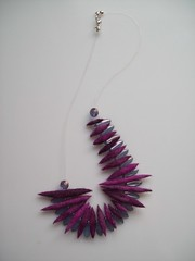 blackcurrant felt necklace | by mimozadesign