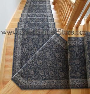 Pie Step Stair Runner Installation 2 | By The Stair Runner Store ...