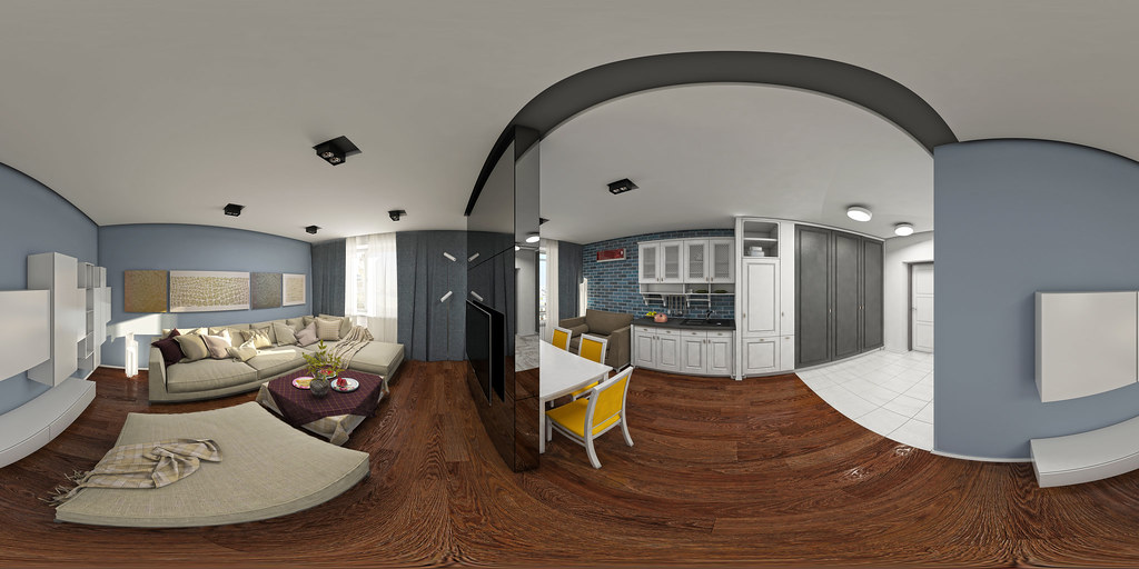 ... 360 Panorama visualization | Interior Design | Apartment-studio | by  design-repost