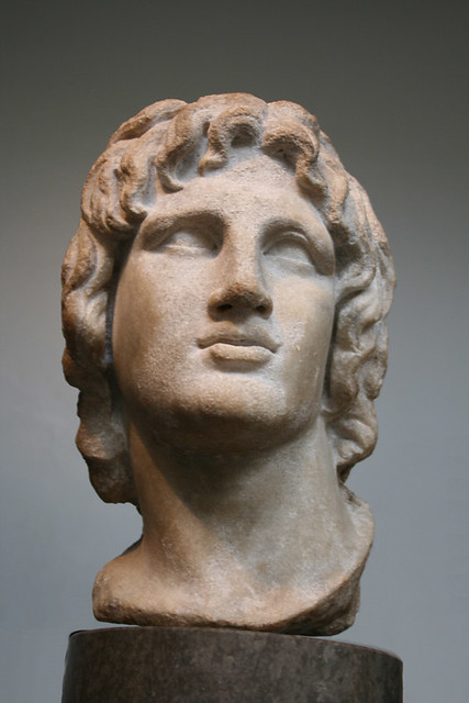 Alexander The Great Marble Head Of 2nd 1st C Bc This