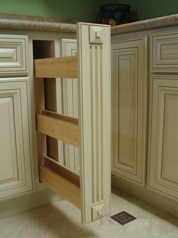 ... Spice Rack Base Cabinet | By Longview Cabinets   Davinci White