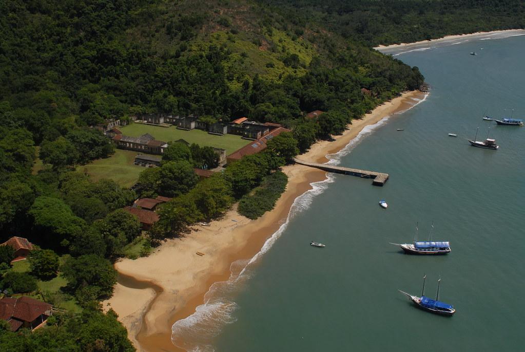 Ilha Anchieta - Ubatuba, Brazil | Aerial view of Anchieta ...