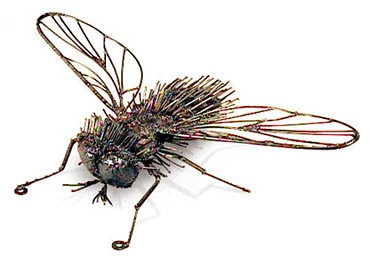 Metal Hairy Fly Sculpture 14 Quot Long X 10 Quot Wide X 6 Quot High