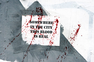 Somewhere in the city this blood is real | by quinn.anya