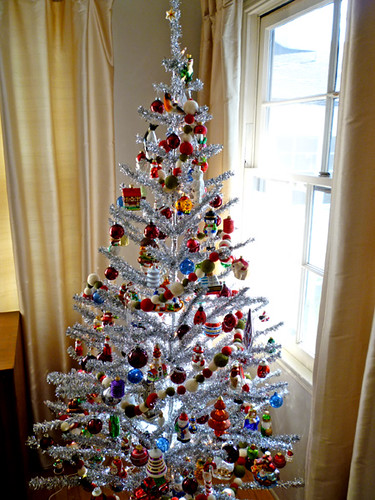 Tinsel Tree This Year 39 S Sweet Tinsel Tree We Opted To