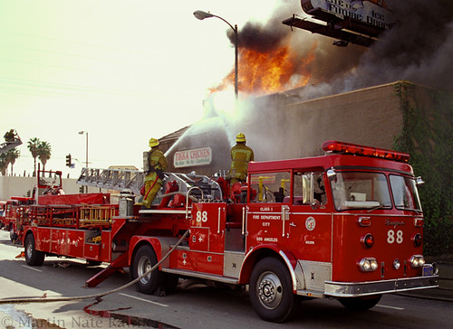 Earthquake >> LAFD Truck 88 / Seagrave Tiller | Los Angeles (City) Fire ...