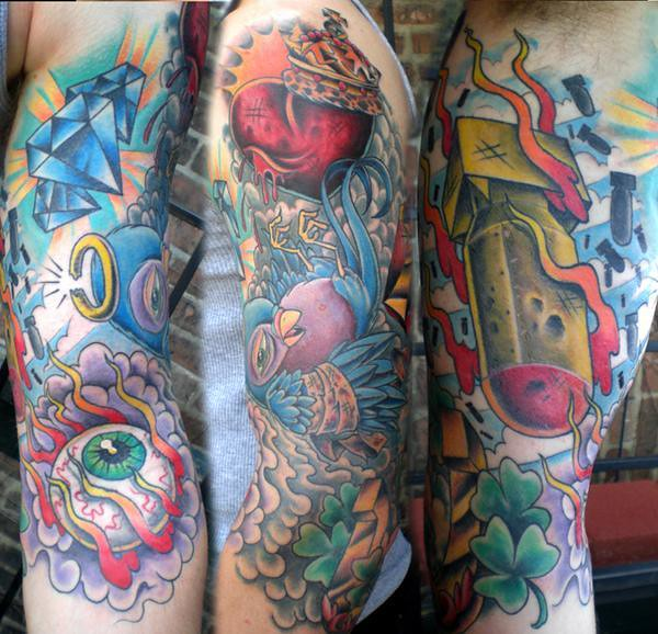 Cary Aldridge New Traditional Tattoo Sleeve Short North Tattoo Flickr