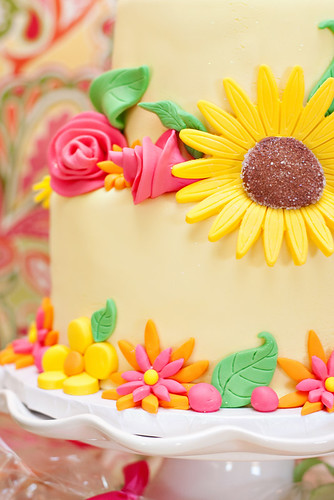 Kate s Fairy Garden Party - Cake Flower Details Cake by ...