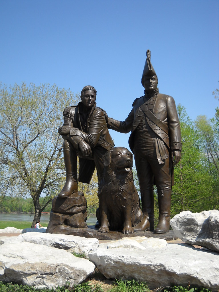 statue of Seaman | SEAMAN - Captain Meriwether Lewis ...