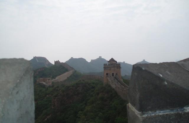 Hazy Great Wall of China