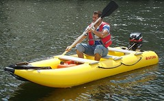 Saturn Inflatable Crossover Kayak + Boat = KaBoat