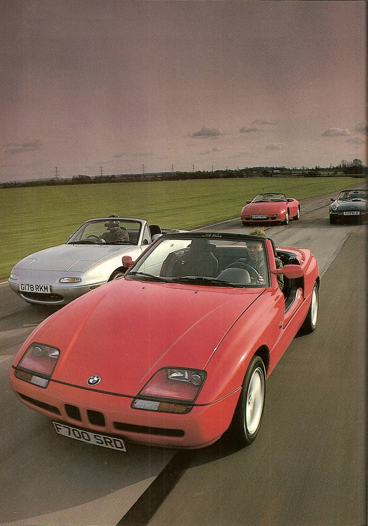 bmw z1 mazda miata mx 5 lotus elan se tvr s group road test 1990 flickr. Black Bedroom Furniture Sets. Home Design Ideas