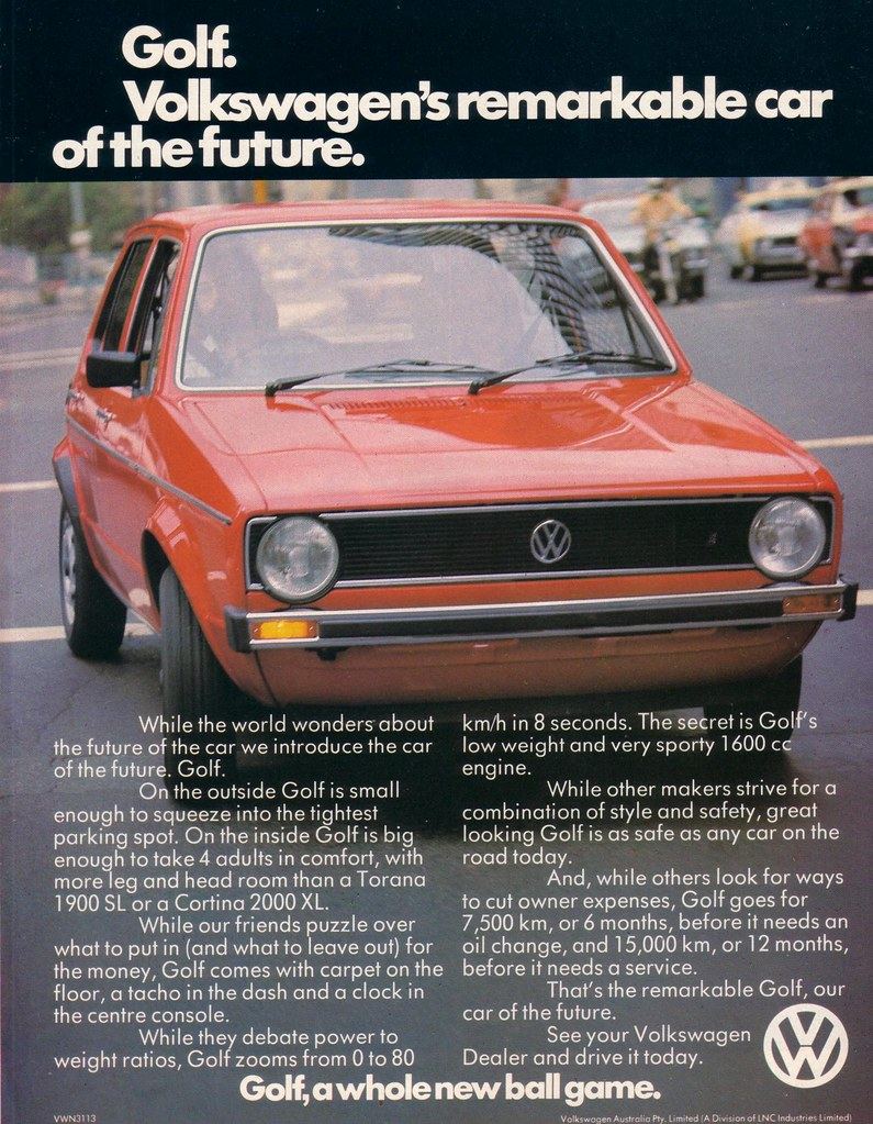 1976 Volkswagen Golf Ad - Australia | Covers the New Volkswa… | Flickr