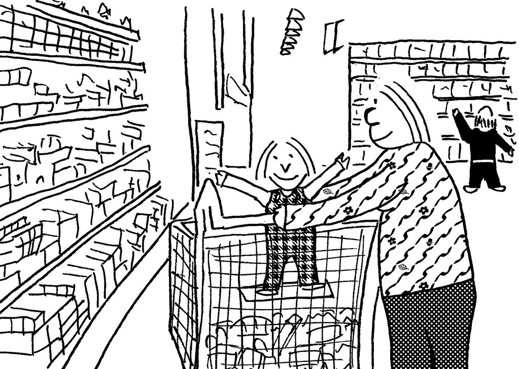 supermarket coloring pages - photo#21