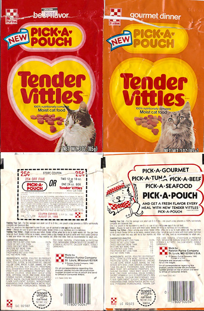 1982 Ralston Purina Pick A Pouch Tender Vittles Cat Food B Flickr
