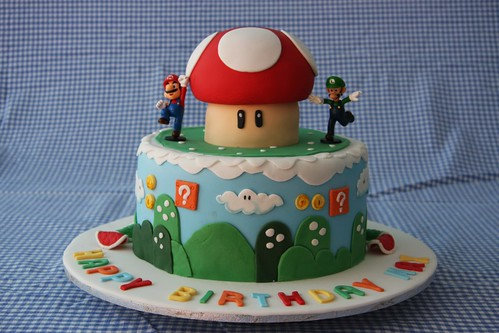 Max S Birthday Cake For His Mario Bothers Birthday Party