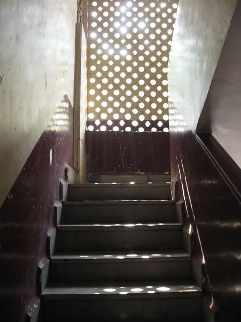 White Stair Case