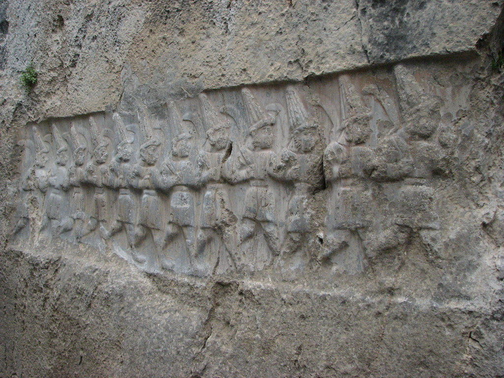 Hittite rock carving yazilikaya turkey nearby hattusa