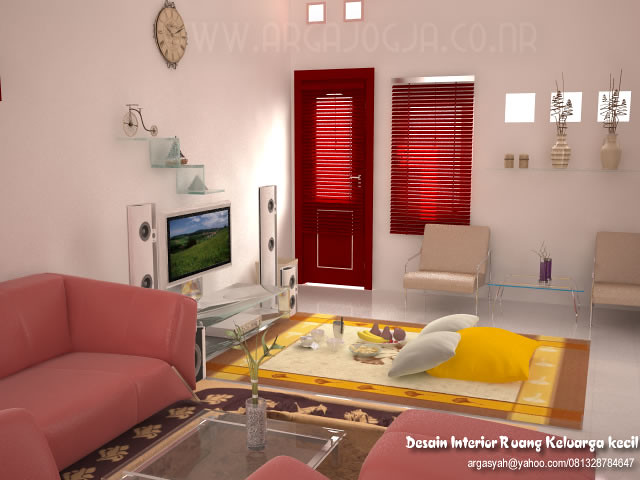 Desain Ruang Tamu N Ruang Keluarga