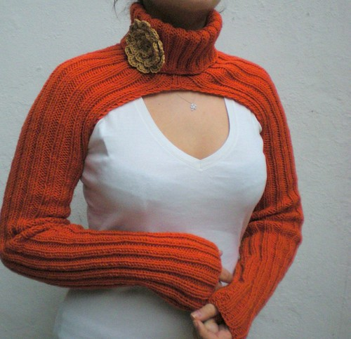 orange shrug | by crochetbutterfly