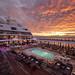 Seabourn Odyssey Pool Deck at Sunrise