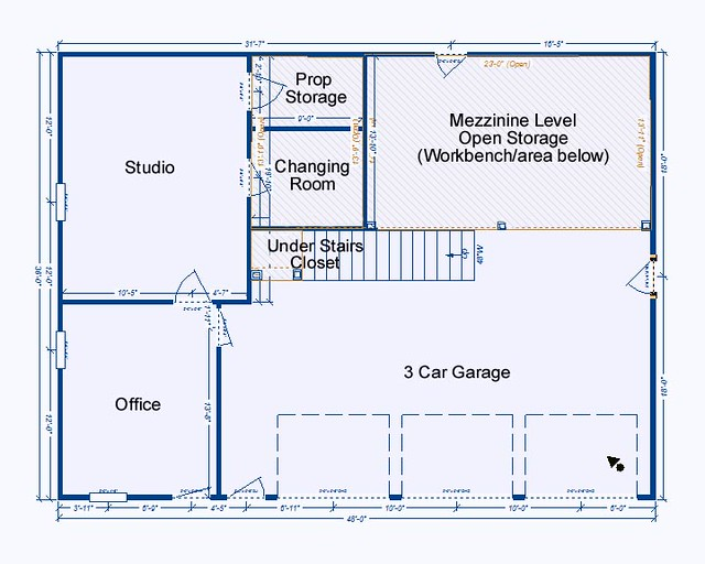 Garage Studio Floor Plan Two Years In Planning One Year