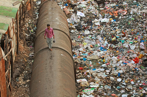 Dharavi Pipe Walk, IV | by Meanest Indian