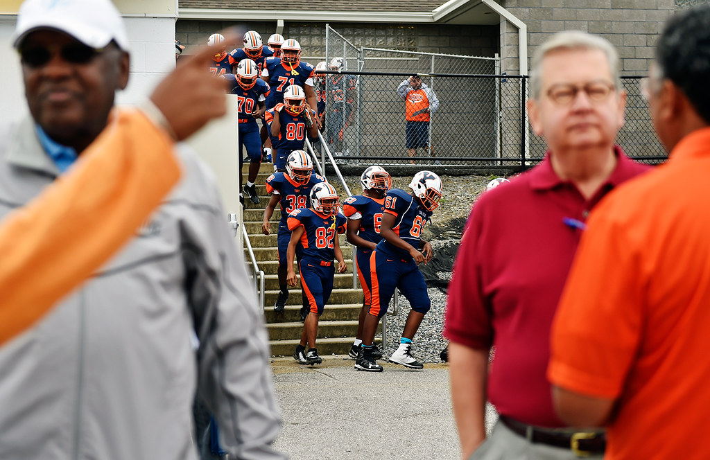 © 2016 by The York Daily Record/Sunday News. William Penn football players leave the locker room before a YAIAA football game Saturday, Sept. 24, 2016, at Small Field in York.