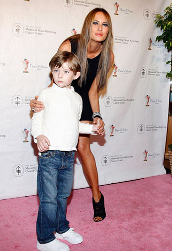 Melania Trump and Almost 4-Year-Old Barron at the Bunny Hop at FAO ...