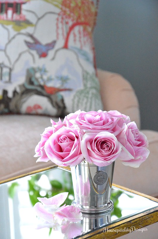 Pink Roses-Mint Julep Cup-Housepitality Designs