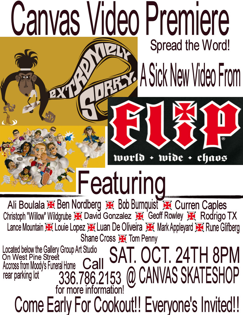Canvas Flip Extremely Sorry Premiere Flyer Flyer Cedric Hayter