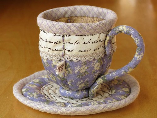 Quilted Teacup 9 | by PatchworkPottery