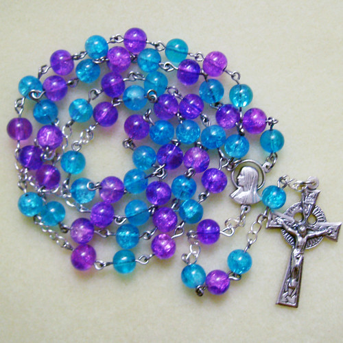 blue and purple rosary yes it s purple and blue bright flickr
