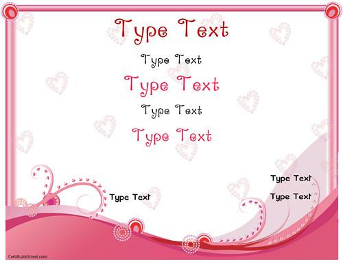 Romance Love Certificate Template Pdf Certificatestr Flickr